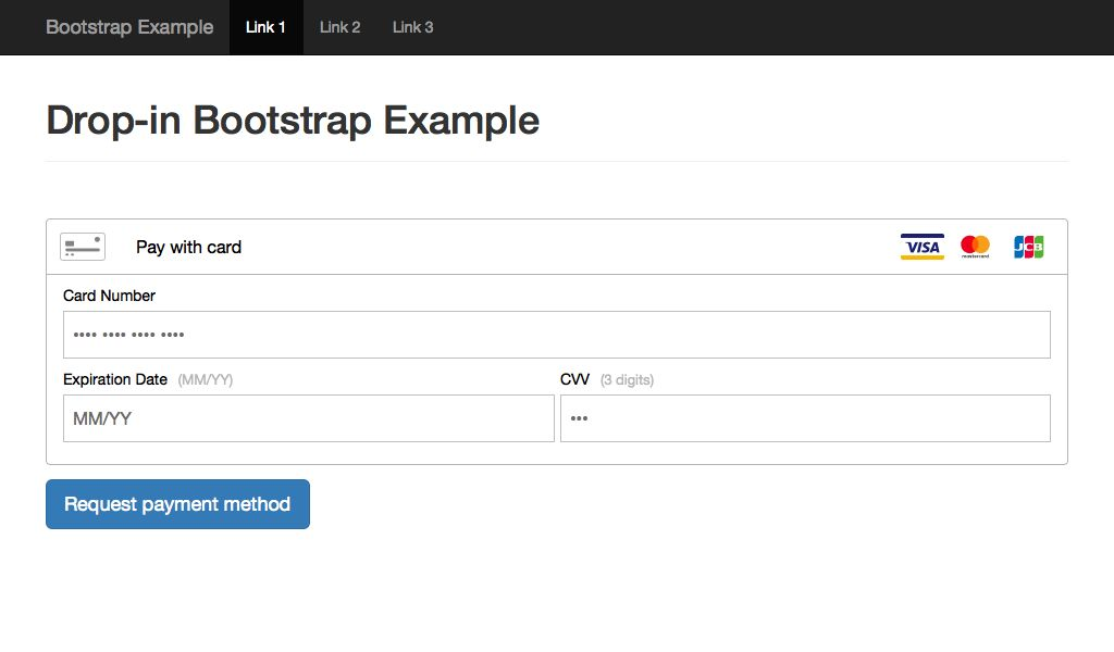 Braintree Drop-in Bootstrap Example