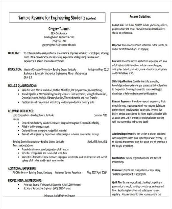 31+ Professional Engineering Resume Templates | Free & Premium ...