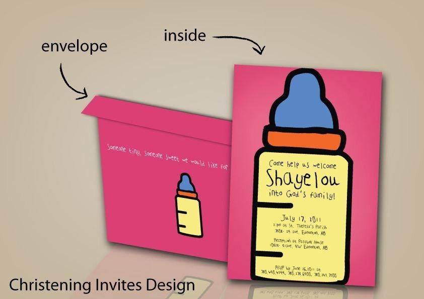 Baptismal Invitation Card : Baptismal Invitation Card Maker Free ...