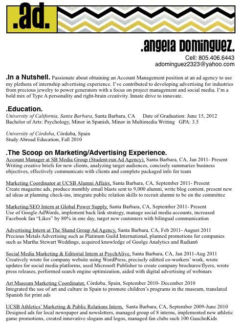Advertising Agency Sample Resume | haadyaooverbayresort.com