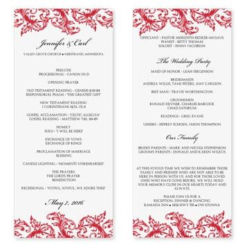 DIYWeddingTemplates.com - Wedding Program Templates | Venice Ruby ...