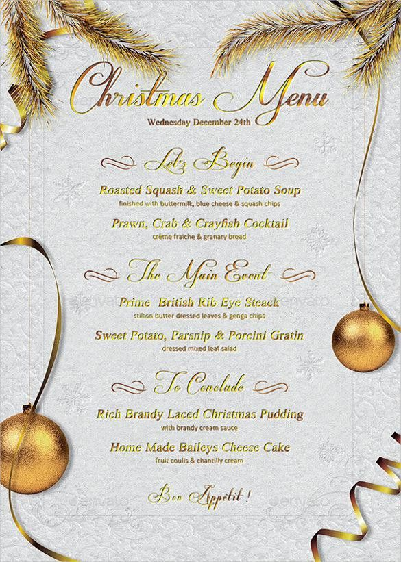 Christmas Menu Samples | Download Free & Premium Templates, Forms ...