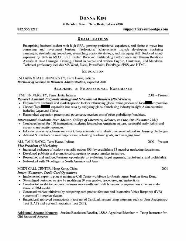 Nice Looking Business Resume Format 1 Why This Is An Excellent ...