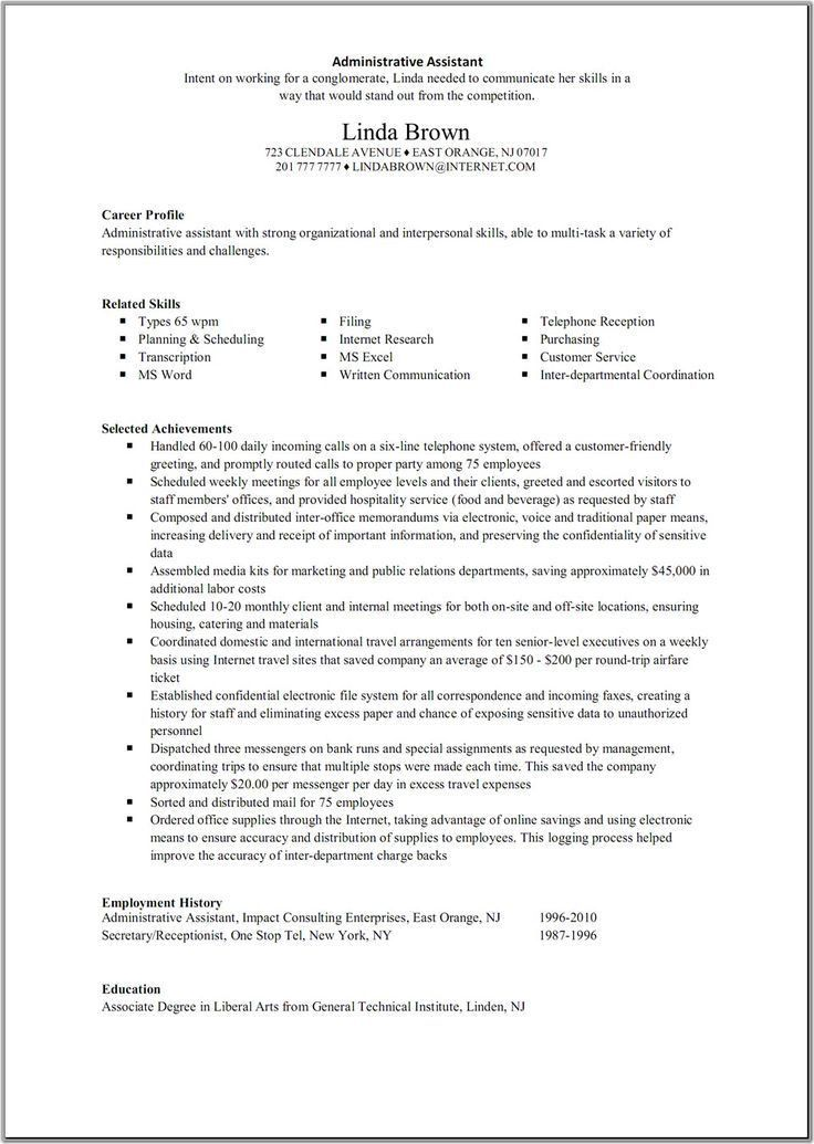 Executive Summary Example Resume. Project Executive Summary ...