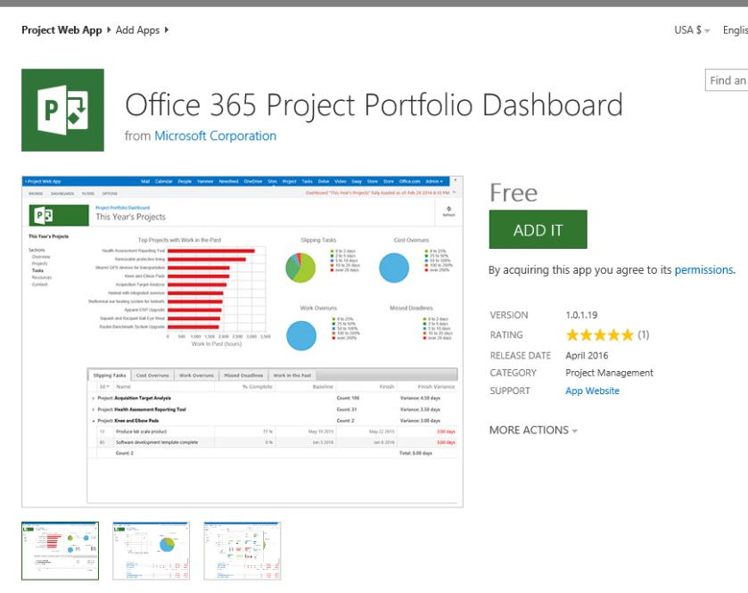 NEW RELEASE] Office365 Project Portfolio Dashboard – Microsoft PPM ...