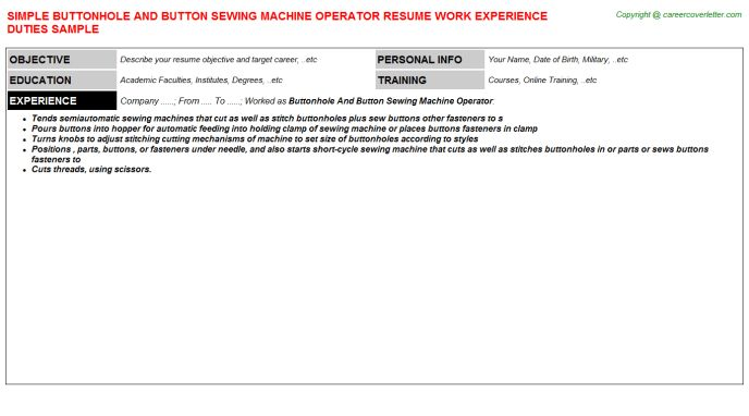 resume design. warehouse machine operator resume samples cnc ...