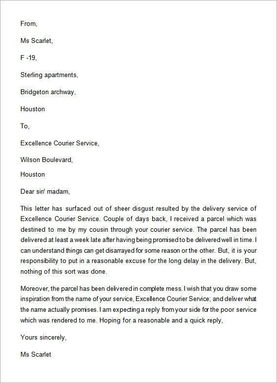 Sample Complaint Letter For Poor Product - Mediafoxstudio.com