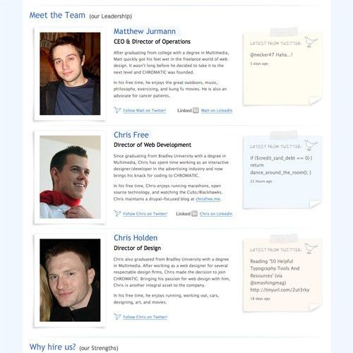 Meet the Team Pages: Examples and Trends - Smashing Magazine