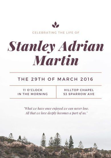 Nature Celebration of Life Poster - Templates by Canva