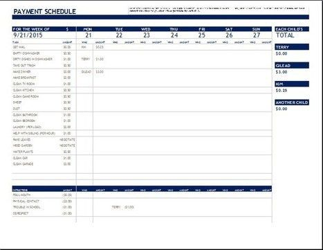 Payment Schedule Template. 31 Days Of Home Management Binder ...
