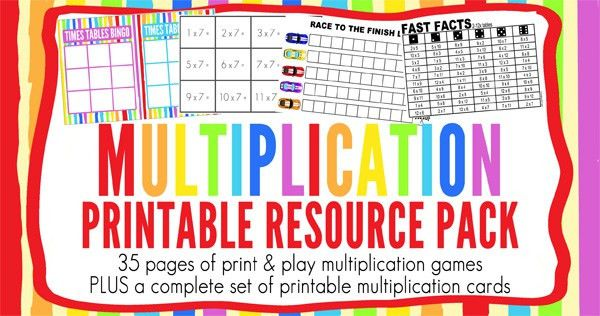 Printable Multiplication Bookmarks | Childhood101