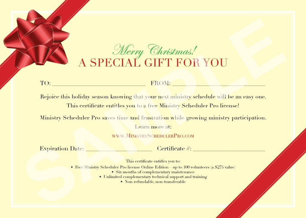 Christmas Gift Voucher Design Template with Red Ribbon and Beige ...