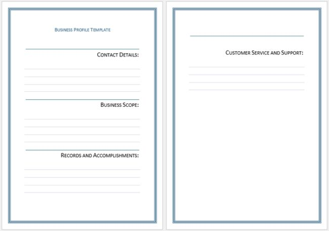 Business Profile Templates - Easily Create Professional Business ...