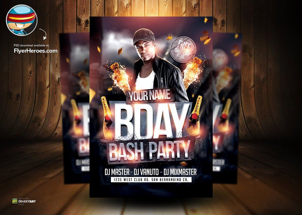 5 Best Images of Birthday Flyer Template Photoshop - Photoshop ...