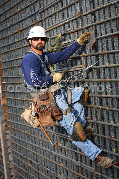 Construction Worker Hanging On Rebar | SoCal Stock Photos & OC ...