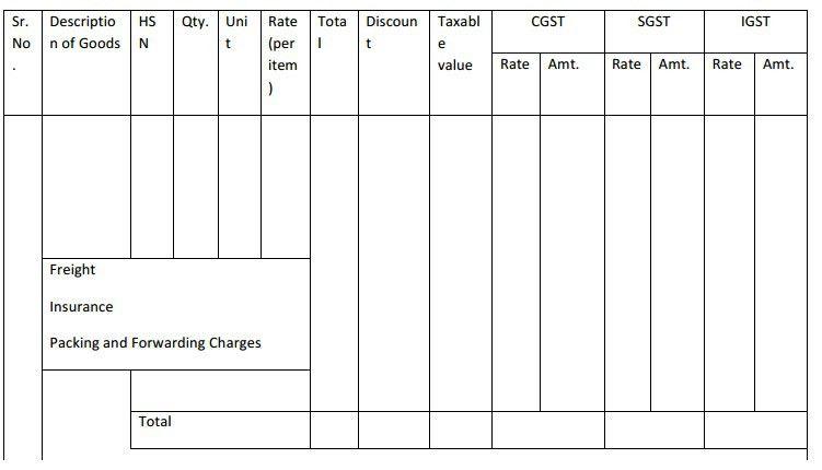 GST Bill Format (OFFICIAL) PDF Excel GST Invoice Bill Format - FinApp