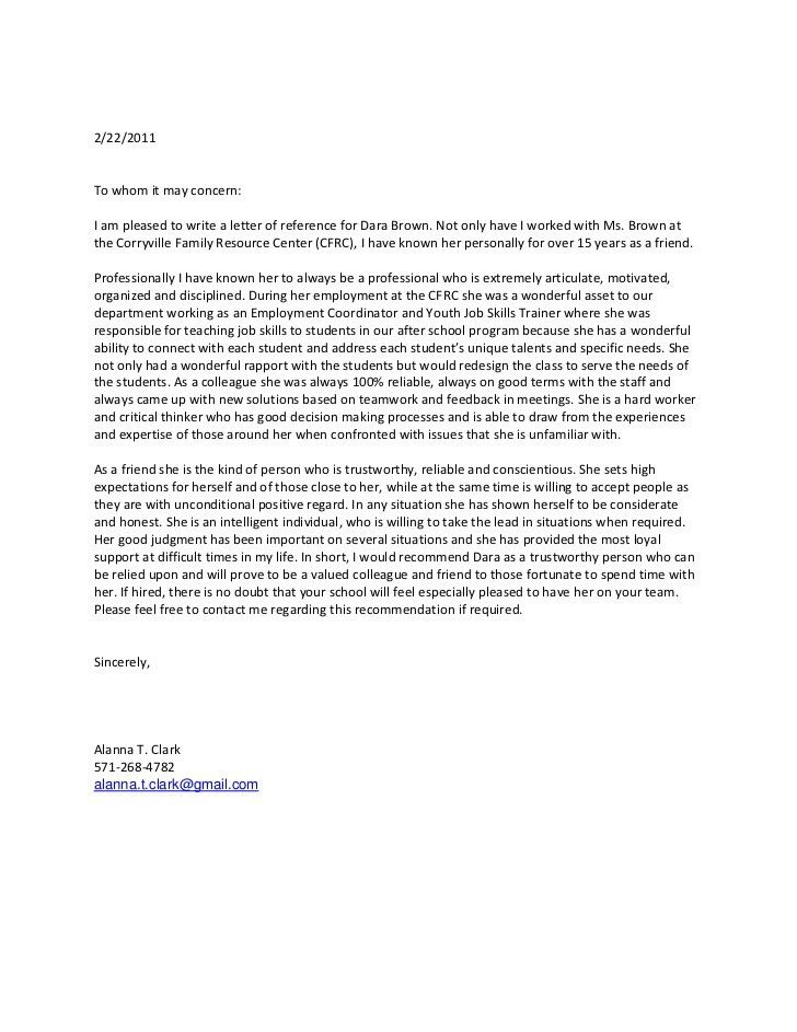 Letter Of Recommendation For Coworker. 20+ Business Reference ...