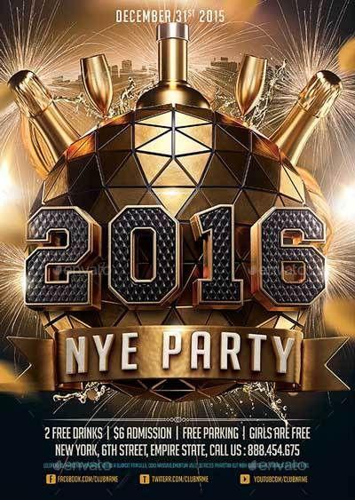 2016 New Years Eve NYE Flyer Template - http://ffflyer.com/2016 ...