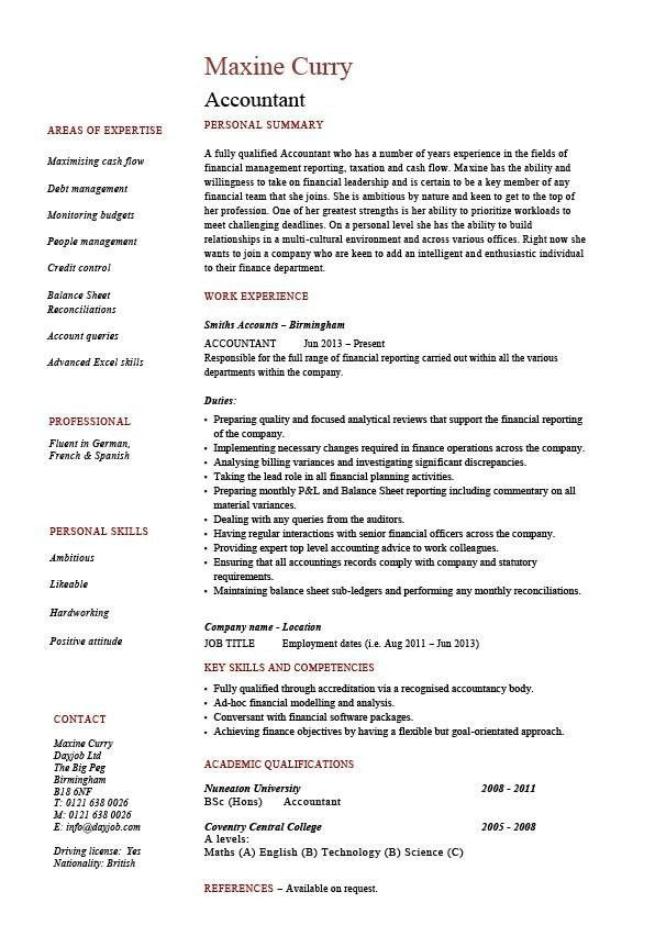 Resume Format For Accountant. Accountant Resume In Word Format ...
