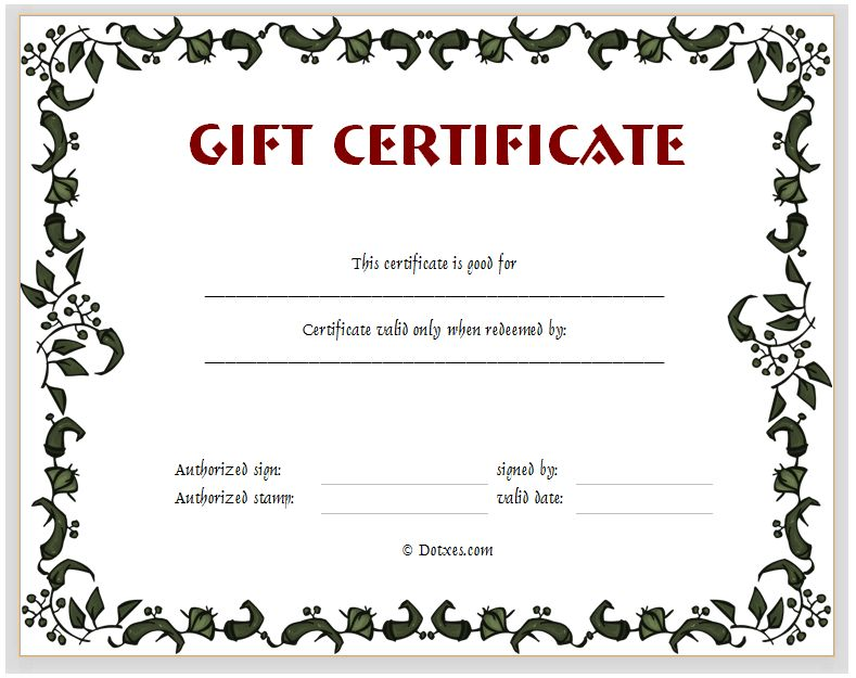 create your own gift certificates - Hallo