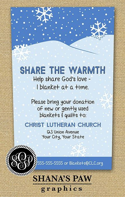 Here's a colorful flyer to publicize your winter clothing drive ...