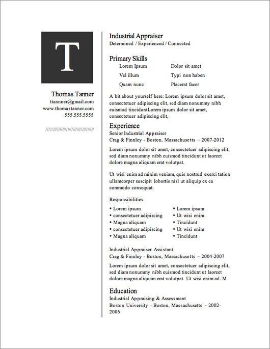 50 free microsoft word resume templates for download. resume ...