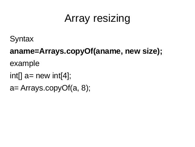 intorduction to Arrays in java
