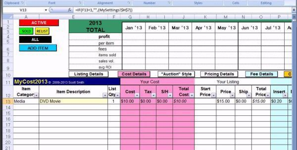 Profit And Loss Statement For Small Business Profit Spreadsheet ...