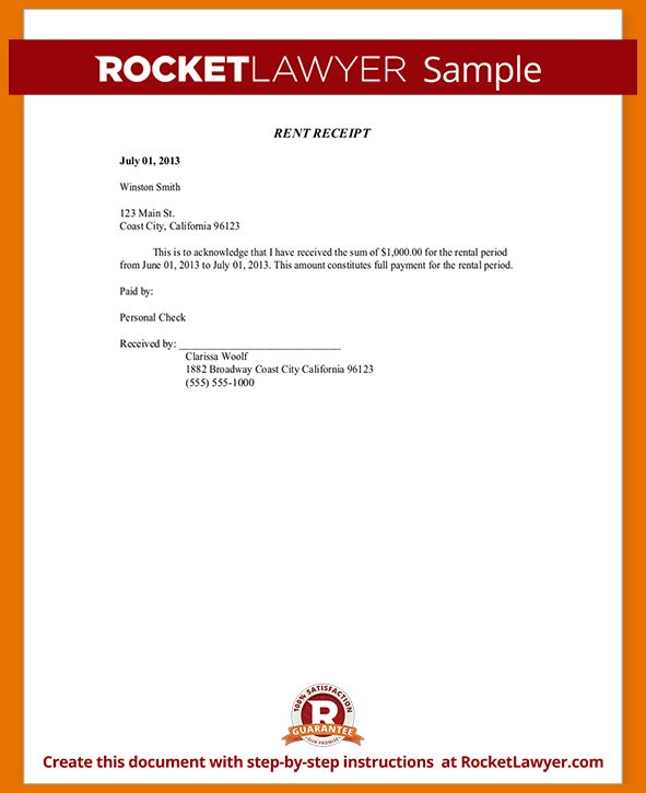 8+ sample rent receipt | Itinerary Template Sample