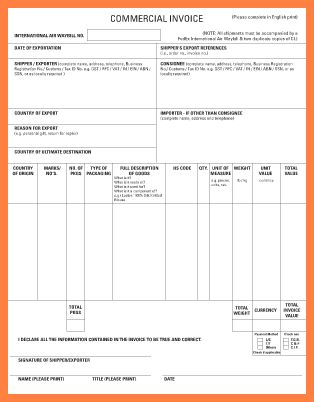9+ fedex commercial invoice template   Invoice Example 2017