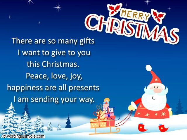 Christmas Card Messages and Christmas Card Wordings - Wordings and ...