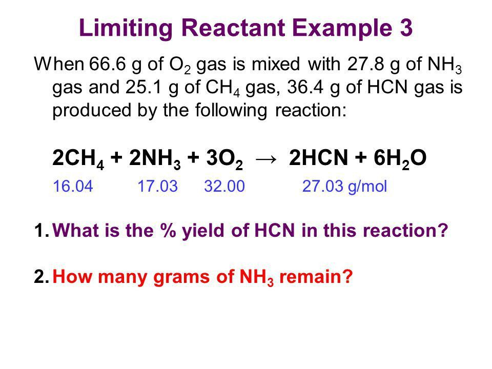 Theoretical Yield: Which Reactant is Limiting? - ppt video online ...