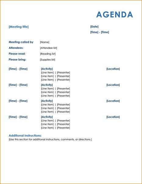 8 Meeting Agenda ExampleAgenda Template Sample | Agenda Template ...