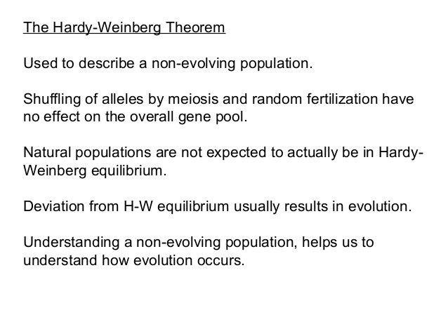 Microevolution hardy weinberg