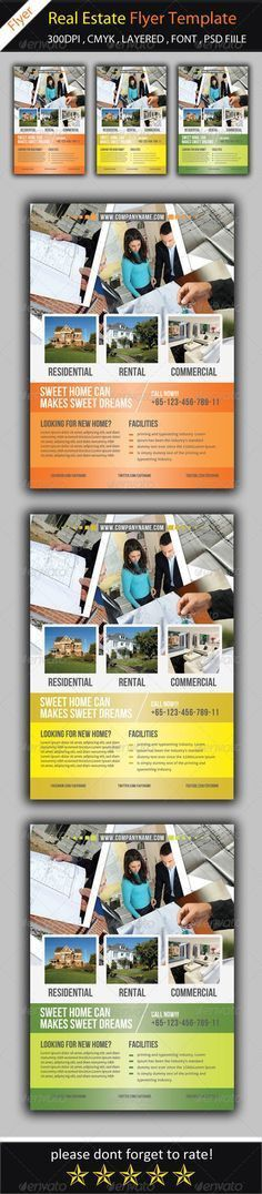 Real Estate Flyer | Real estate flyers, Font logo and Flyer template