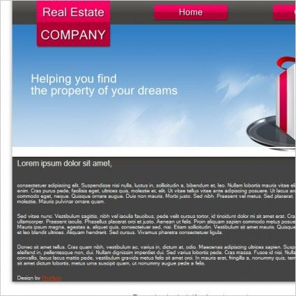 Real Estate Company Template Free website templates in css, html ...