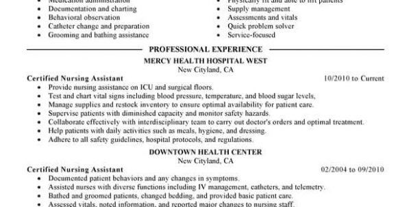 PCA Resume No Experience Patient Care Assistant Resume Sample ...