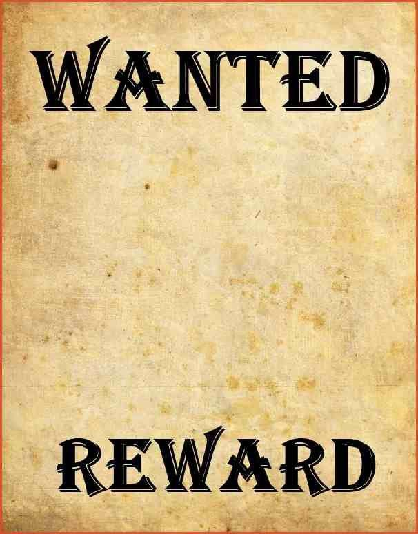 MOST WANTED POSTER | proposal bid template