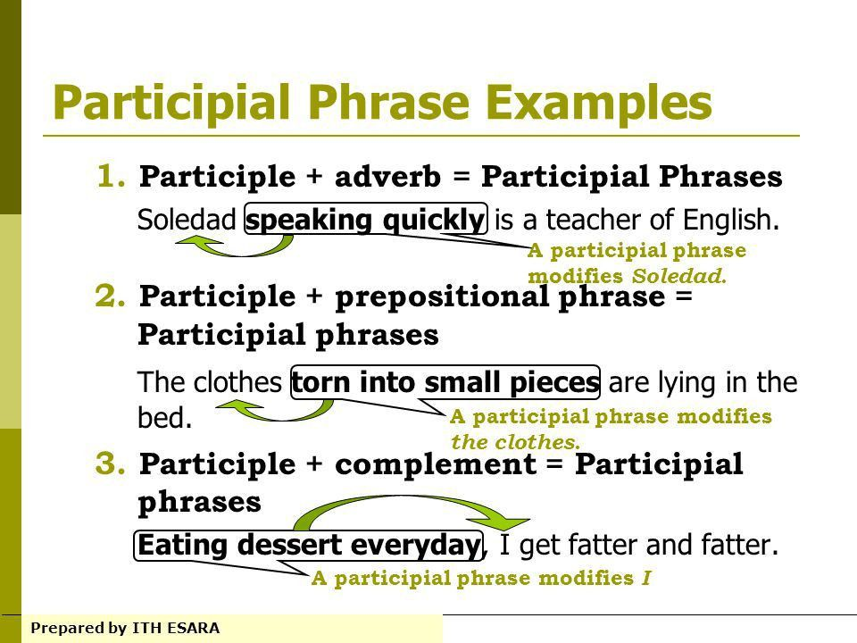 PARTICIPLES AND PARTICIPIAL PHRASE - ppt video online download