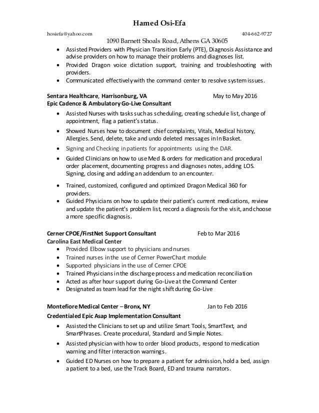 hao_cerner_epic. Resume Example. Resume CV Cover Letter