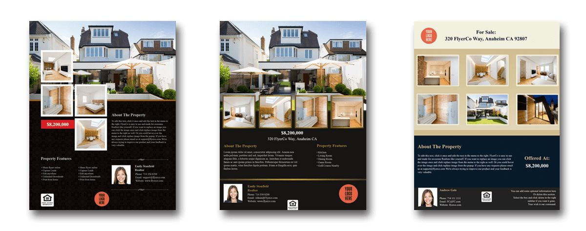 Easily Create Stunning Real Estate Flyers