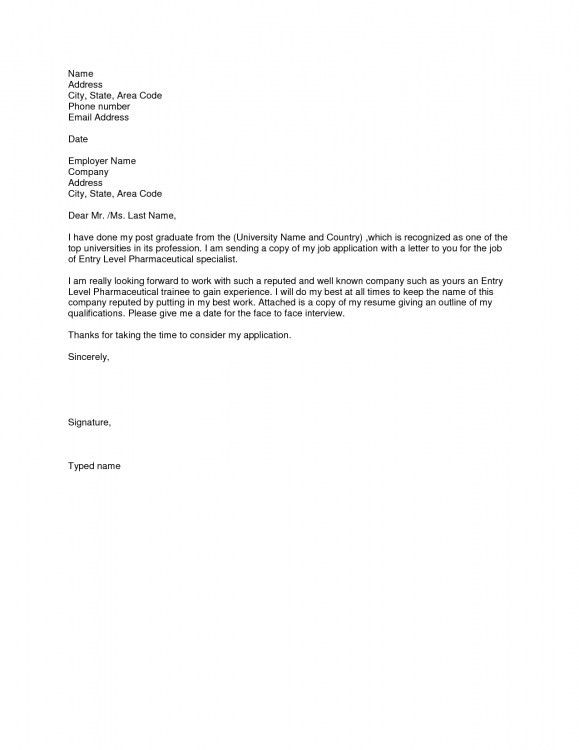 Cover Letter Examples For Resumes Entry Level | Resume Template ...
