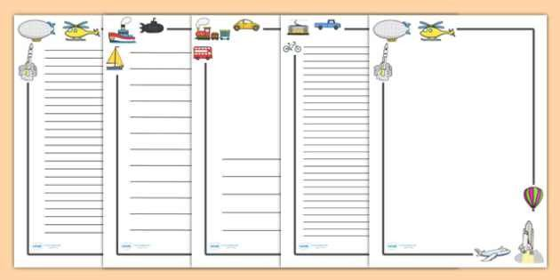 Transport Page Borders - Transport, page border, a4 border