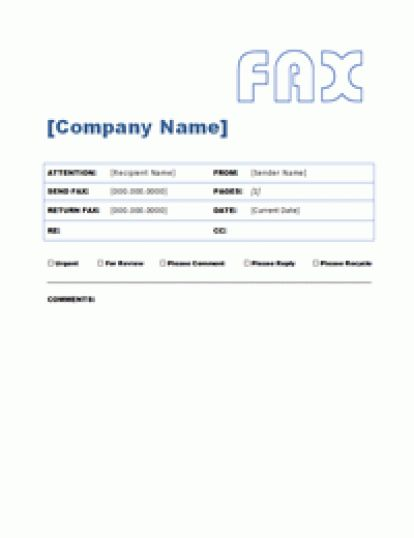 Top 5 Resources To Get Free Fax Word Templates - Word Templates ...