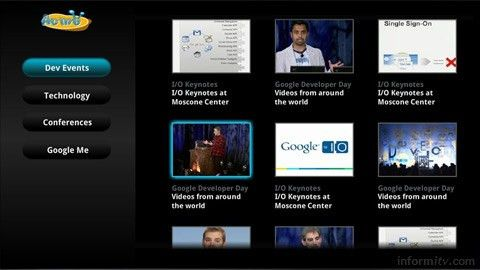 Google TV templates to tempt developers | informitv