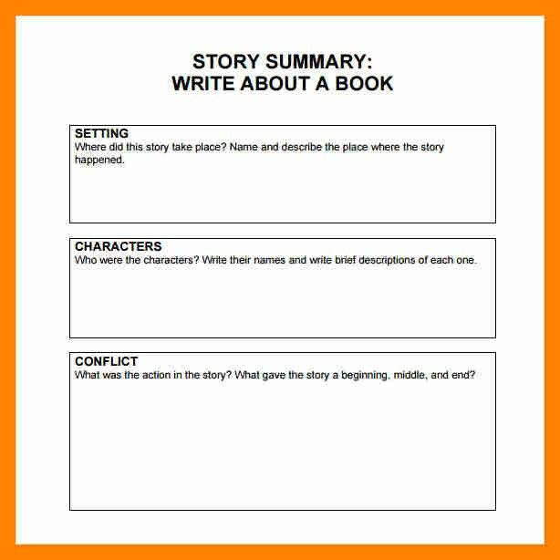 7+ story summary template | resume sections