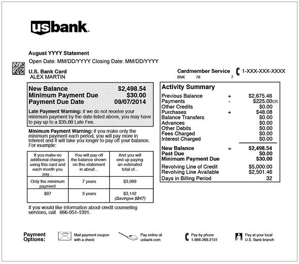 USBANK | How to Read My Statement