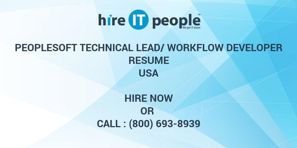 PeopleSoft Technical Lead/Workflow Developer Resume - Hire IT ...