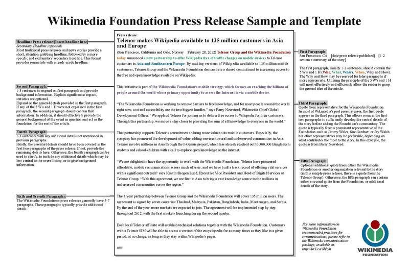 File:WMF Press Release Template Sample.pdf - Wikimedia Foundation