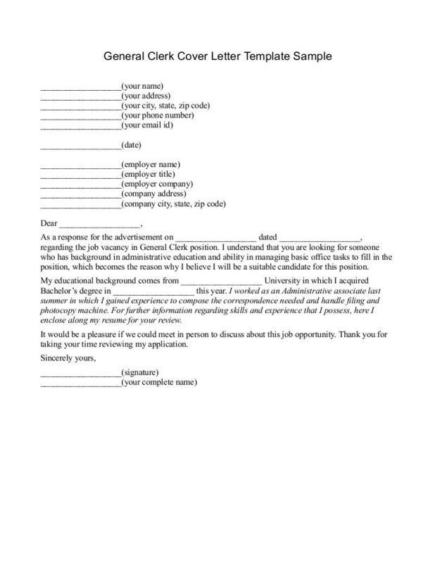 Well-Suited Ideas Generic Resume Cover Letter 4 General Cover ...